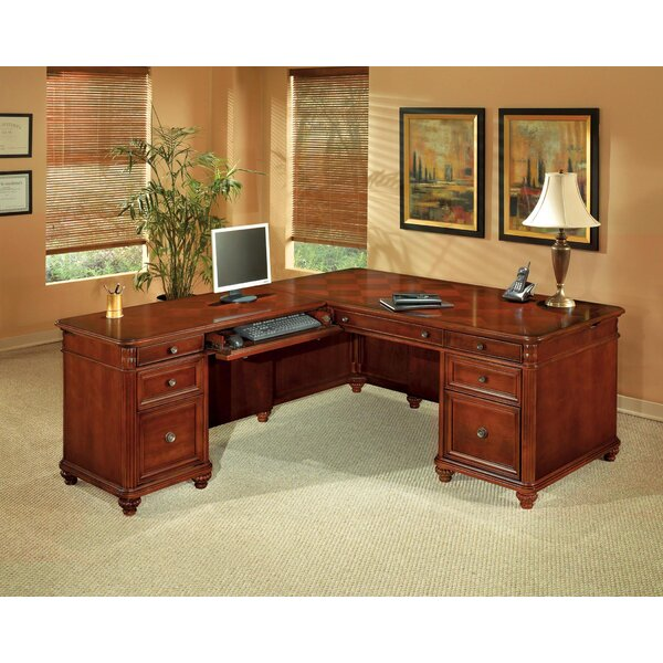 Antigua L-Shape Executive Desk by Flexsteel Contract