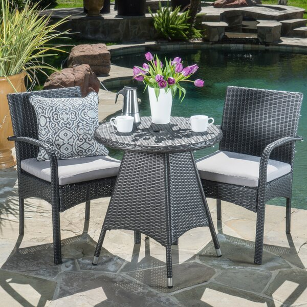 Bittner 3 Piece Bistro Set With Cushions By Ivy Bronx