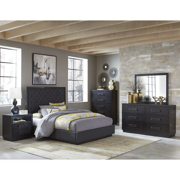 Broadnax Queen Upholstered Storage Standard Bed by Union Rustic