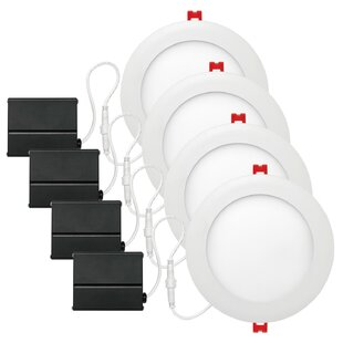 Price comparison White Ultra Slim 6 LED Recessed Lighting Kit By Globe Electric Company