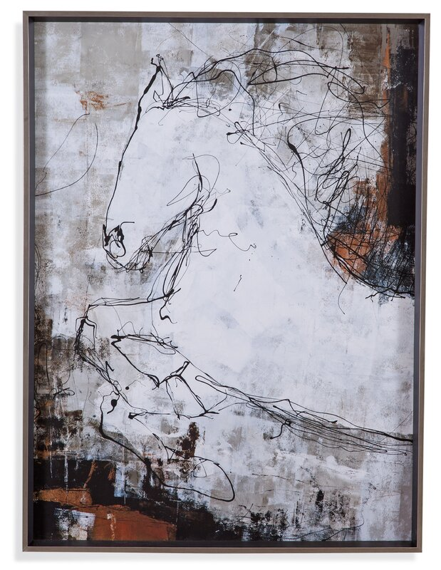 'Contour Horse I' Framed Painting Print