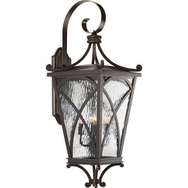 Alexandra 4-Light Outdoor Wall Lantern by Fleur De Lis Living