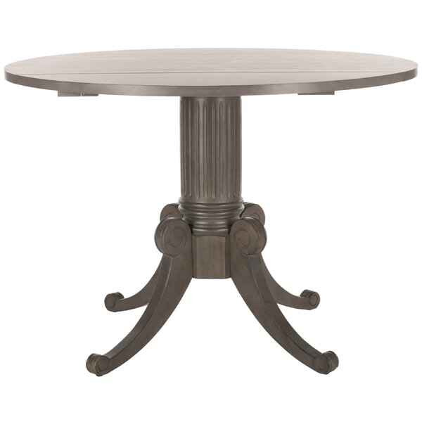 Albertine Drop Leaf Solid Wood Dining Table by One Allium Way