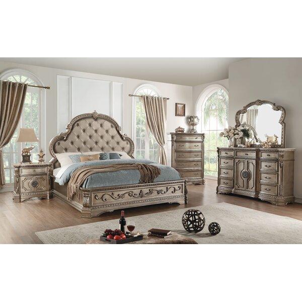 Leanos Upholstered Standard Bed by Rosdorf Park