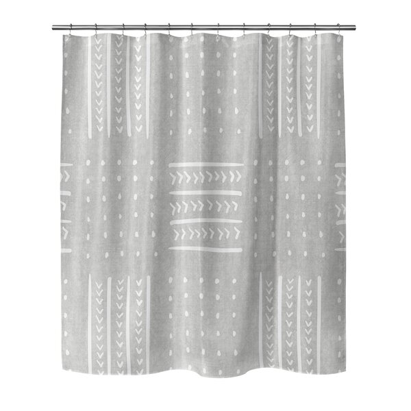 Couturier Geometric Woven Shower Curtain by Union Rustic