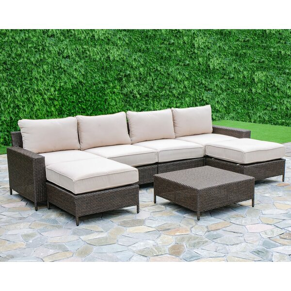 Sharon 7 Piece Sectional Seating Group with Cushions by Laurel Foundry Modern Farmhouse