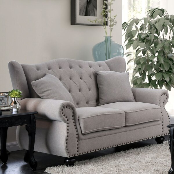 Sharron Tufted Loveseat by House of Hampton