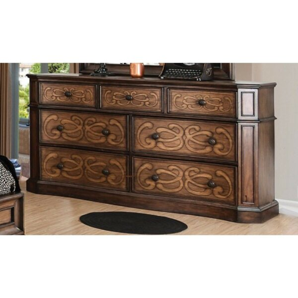 Ginsburg Eccentric 7 Drawer Double Dresser by Fleur De Lis Living