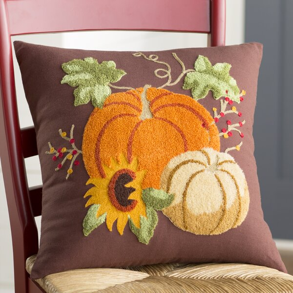 Autumn Splendo Rice Stitch Throw Pillow by August Grove