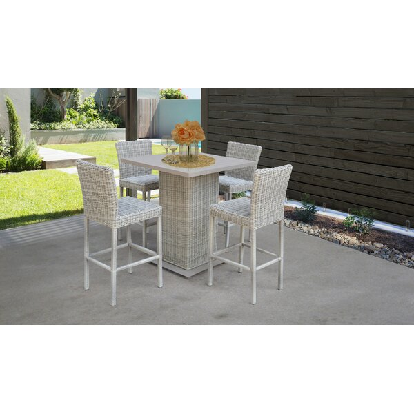 Macy 5 Piece Pub Table Set by Rosecliff Heights