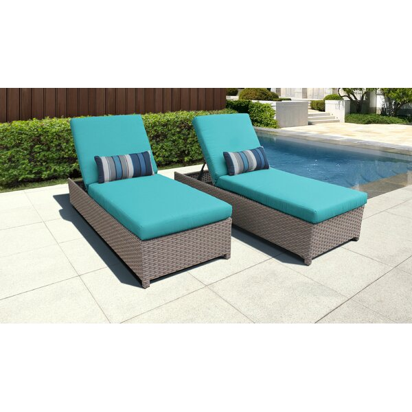 Rochford Sun Lounger Set with Cushion by Sol 72 Outdoor Sol 72 Outdoor