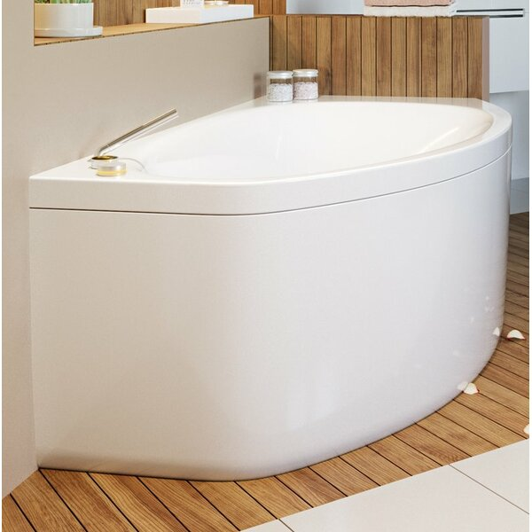 Anette Acrylic 67 x 38 Corner Soaking Bathtub by Aquatica