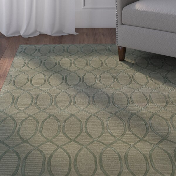 Jaqueline Hand-Tufted Gray Area Rug by Winston Porter