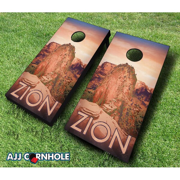 Zion National Park Cornhole Set by AJJ Cornhole