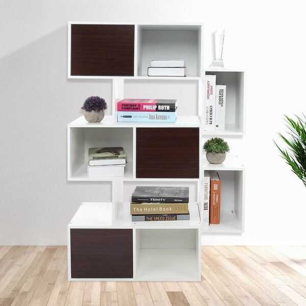 Aurianna 3-Tier Geometric Bookcase By Ebern Designs