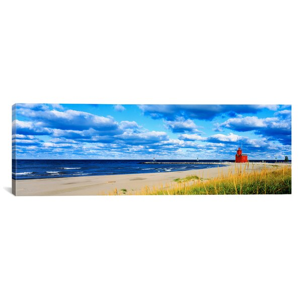 Panoramic Big Red Lighthouse, Holland, Michigan Photographic Print on Canvas by iCanvas