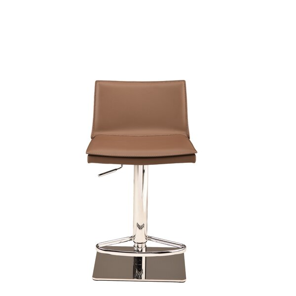 Trixie Adjustable Height Bar Stool by Orren Ellis