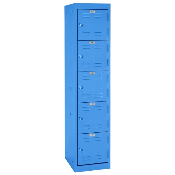 Colored 5 Tier 1 Wide School Locker by Sandusky Cabinets