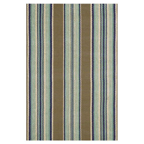 Flat Woven Blue Area Rug by Dash and Albert Rugs