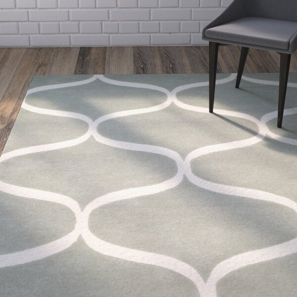 Martins Hand-Tufted Gray/Ivory Area Rug by Wrought Studio