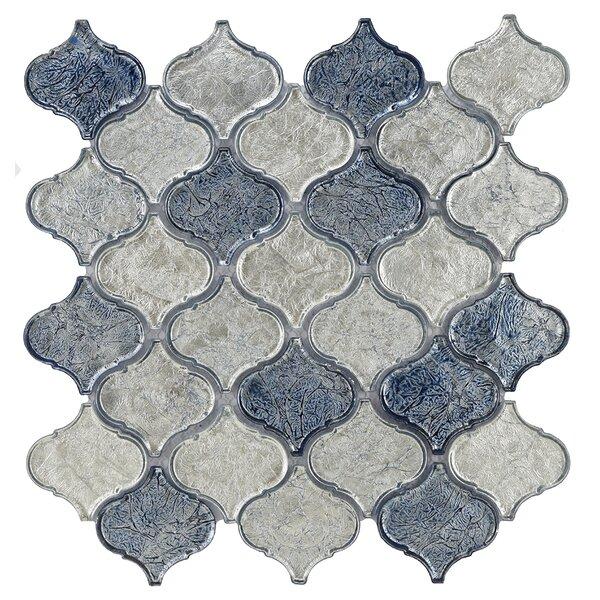 Lantern Glass Mosaic Tile in Blue Blend by Byzantin Mosaic