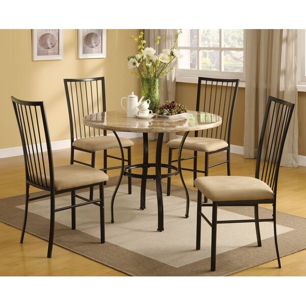 Jessee 5 Piece Dining Set by Fleur De Lis Living