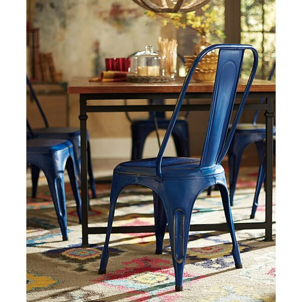 Lomanto Metal Bright Hued Dining Chair (Set of 4) by 17 Stories