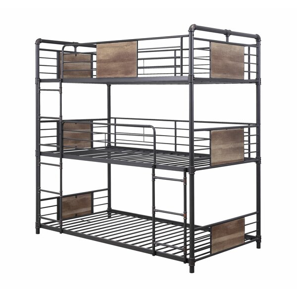 Tennie Hand Brushed Frame Twin Triple Bunk Bed by Isabelle & Max
