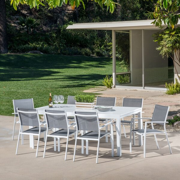 Lebron 9 Piece Patio Dining Set by Latitude Run