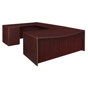 Linh Bow Front Double Full Pedestal U-Shape Executive Desk