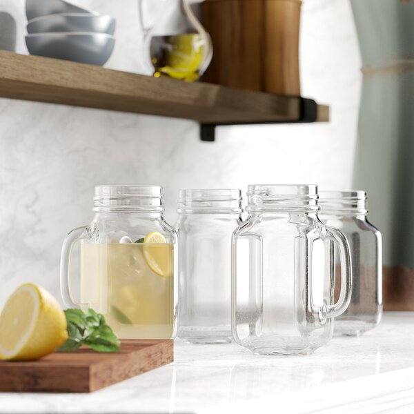 Drinking Jars with Handles (Set of 4) by Birch Lan