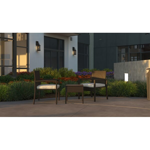 Frystown Balcony 3 Piece Bistro Set with Cushions (Set of 3)