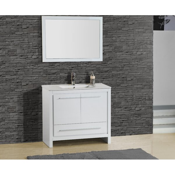 Alexa 36 Single Vanity with Mirror by Adornus