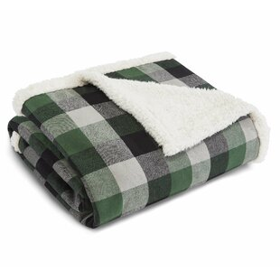 Flannel Sherpa Fleece Throw