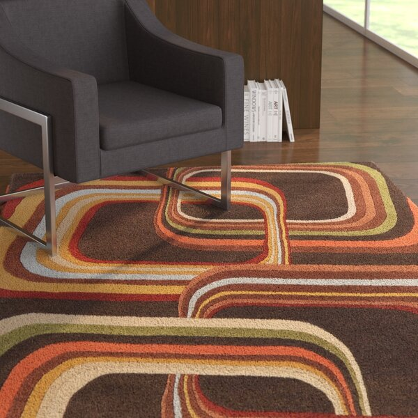 Wyandotte Chocolate Area Rug by Latitude Run