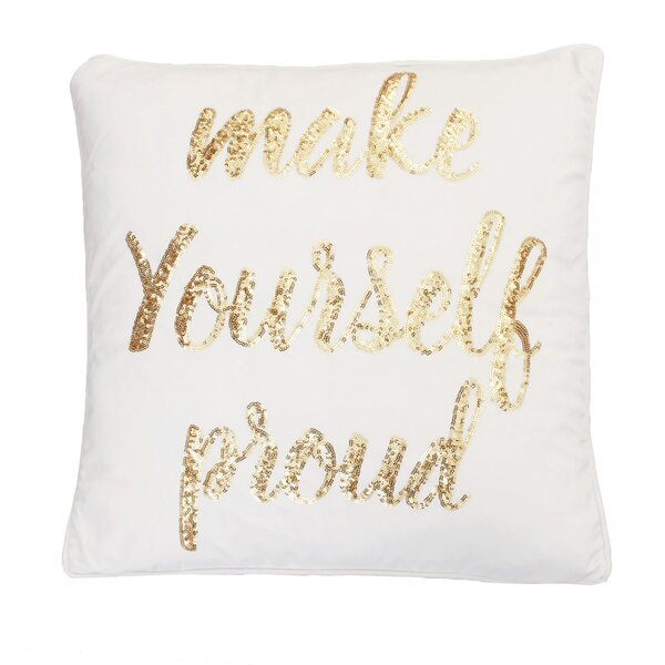Foerer Sequin Velvet Throw Pillow by Mercer41