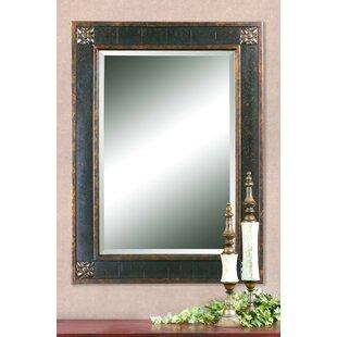 Order Kristy Rectangular Beveled Vanity Mirror in Distressed ByFleur De Lis Living