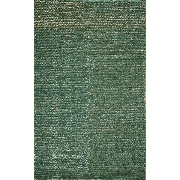 Thaddeus Hand-Woven Teal Area Rug by Bloomsbury Market