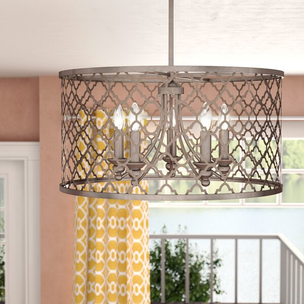 Rollo 5-Light Unique / Statement Drum Chandelier By Mistana