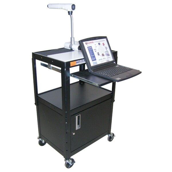 Adjustable Height Workstation AV Cart by Luxor