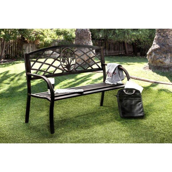 Sunny Perennial Outdoor Metal Park Bench by Hokku Designs