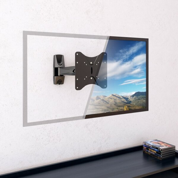 Articulating Arm Wall Mount for 17 - 37 TVs Flat Panel Screens by CorLiving
