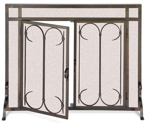 Gate Single Panel Iron Fireplace Screen By Pilgrim Hearth