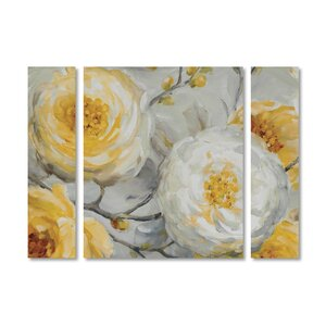 'Sunshine' by Lisa Audit 3 Piece Painting Print on Wrapped Canvas Set by Trademark Fine Art