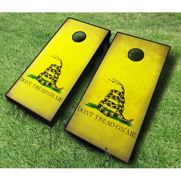 Gadsden Flag Cornhole Set with Bag by AJJ Cornhole