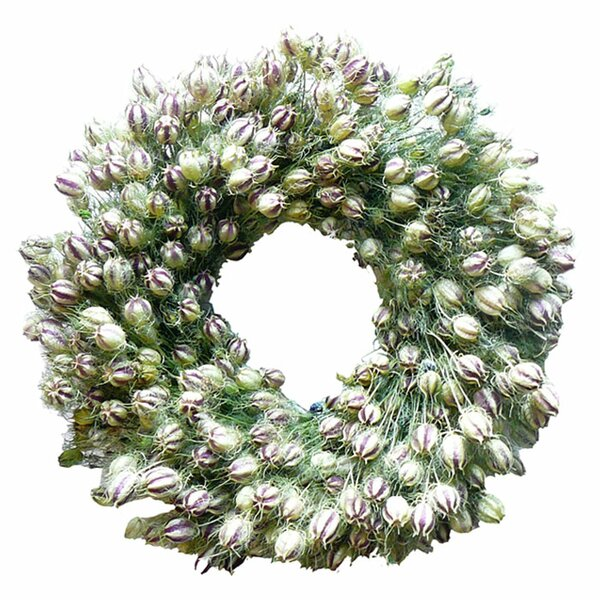Nigella Wreath by Dried Flowers and Wreaths LLC