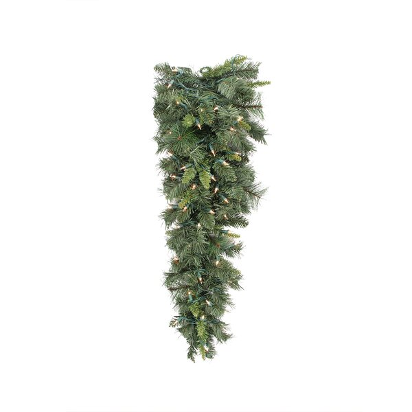 Mixed Long Needle Pine Artificial Christmas Teardrop Swag by Tori Home