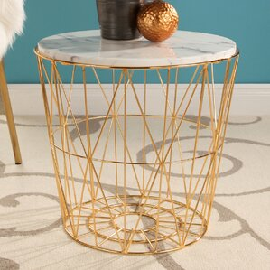 Browning Marble Stainless Steel End Table by..
