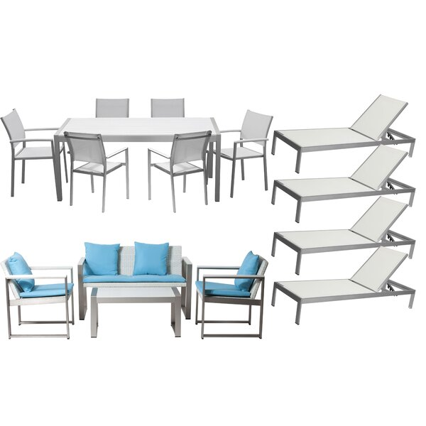 Chstr 15 Piece Complete Patio Set with Cushions by Wade Logan