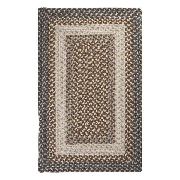 Tiburon Misted Grey Braided Indoor/Outdoor Area Rug by Colonial Mills